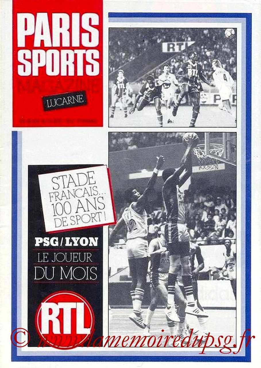 1981-09-25  PSG-Lyon (11ème D1, Paris Sports Magazine N°5)