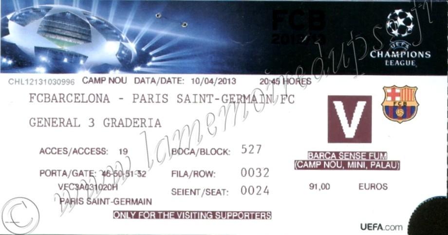 2013-04-10  Barcelone-PSG (Quart Finale Retour C1)