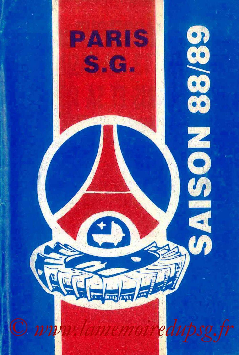 1988-89 - Guide de la Saison PSG - Couverture