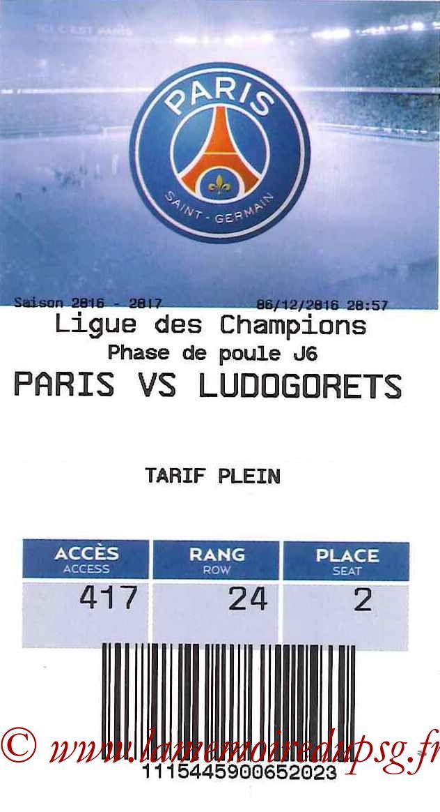 2016-12-07  PSG-Ludogorets (6ème C1, E-ticket)