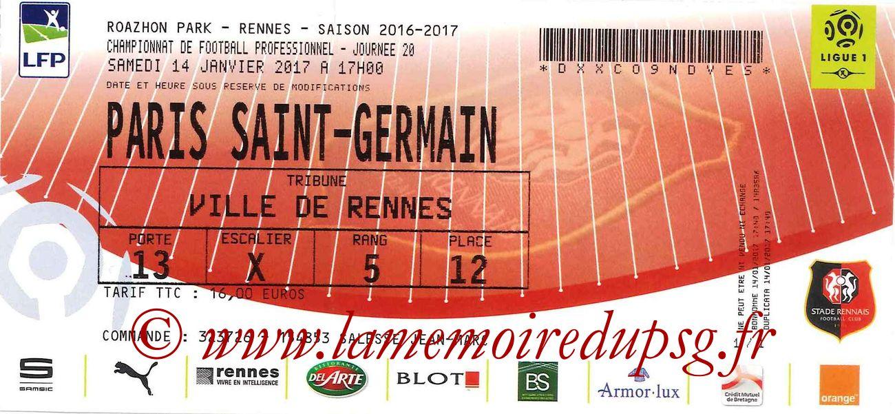 2017-01-14  Rennes-PSG (20ème L1)