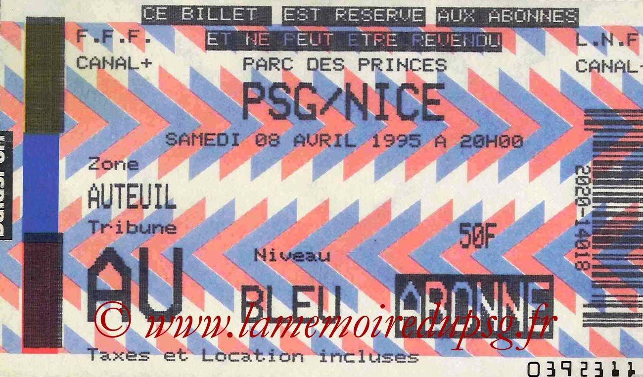 1995-04-08  PSG-Nice (32ème D1)