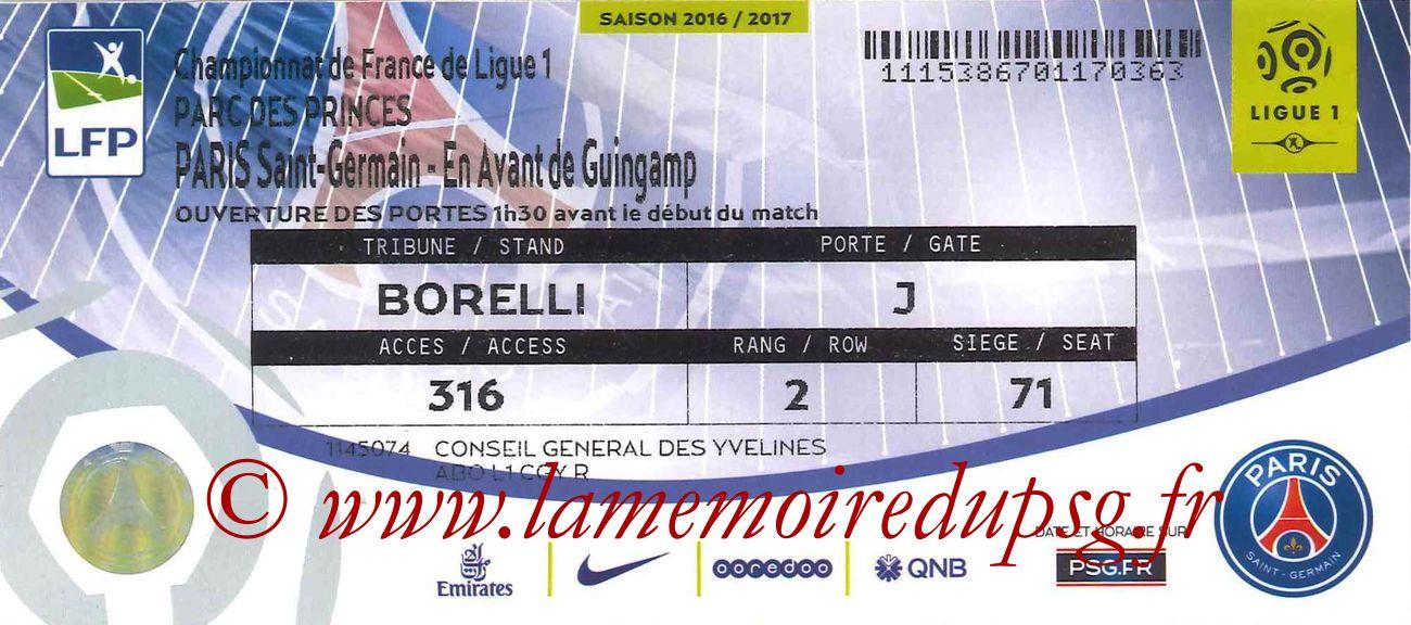 2017-04-09  PSG-Guingamp (32ème L1bis)