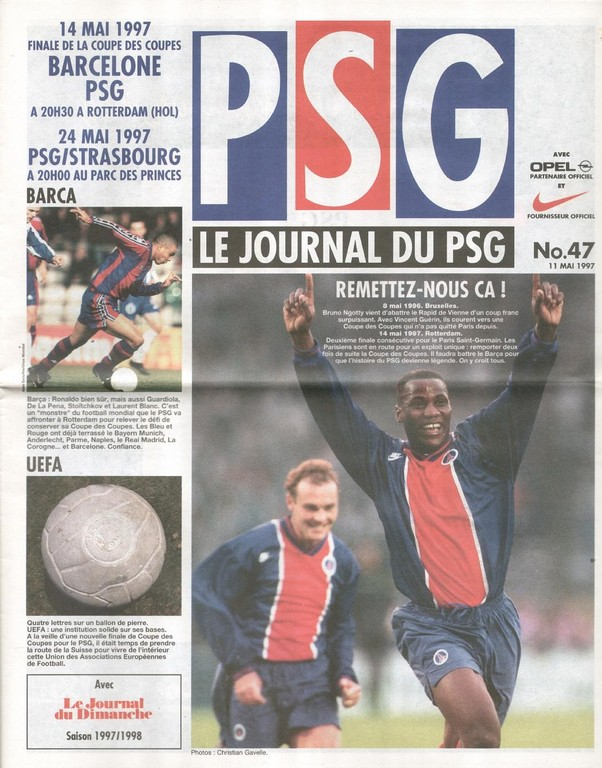1997-05-24  PSG-Strasbourg (38ème D1, Le Journal du PSG N°47)