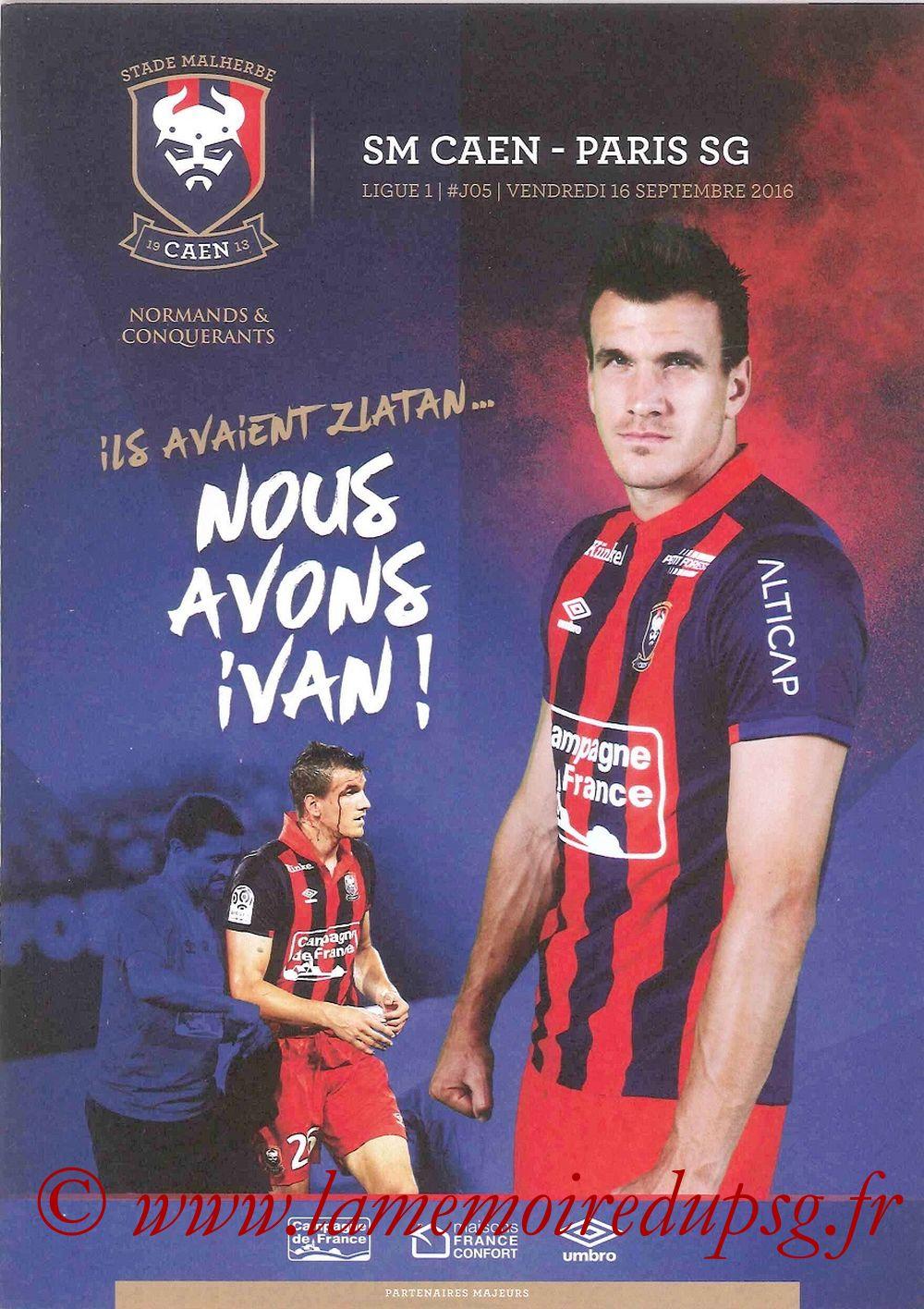 2016-09-16  Caen-PSG (5ème L1, Programme officiel)