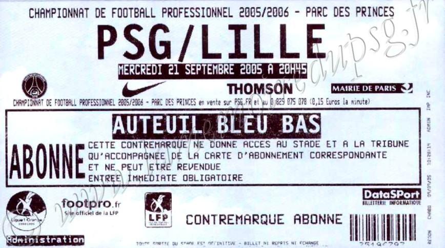 2005-09-21  PSG-Lille (8ème L1)