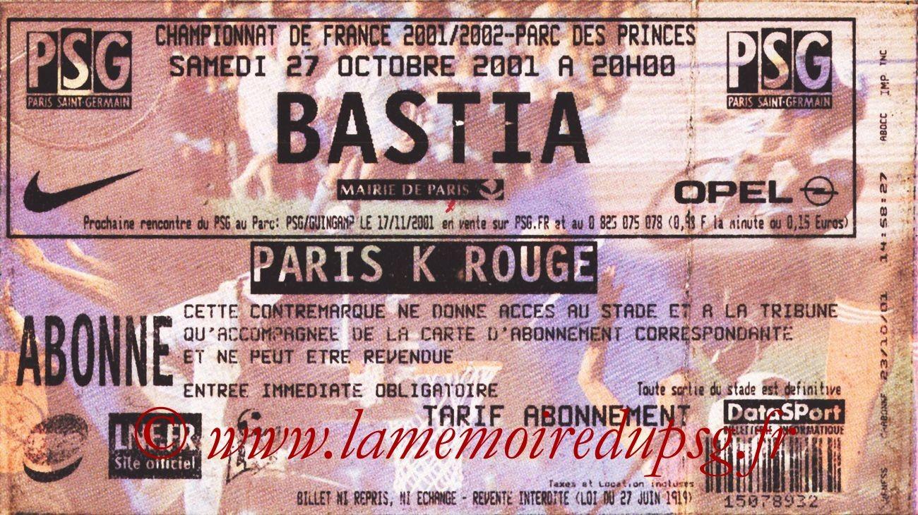 2001-10-27  PSG-Bastia (12ème D1)