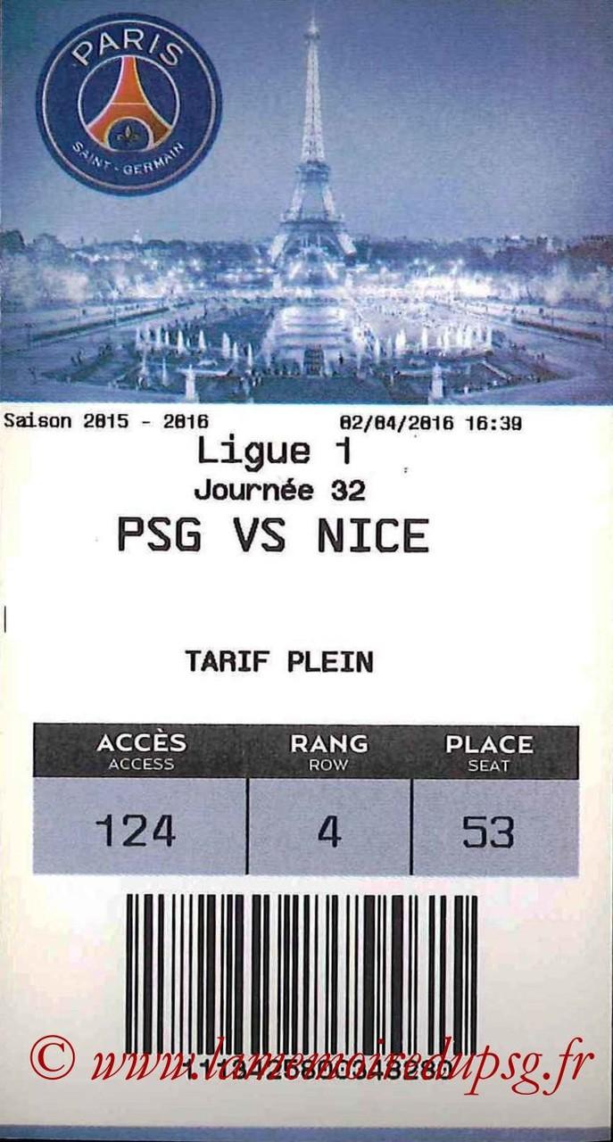 2016-04-02  PSG-Nice (32ème L1, E-ticket)