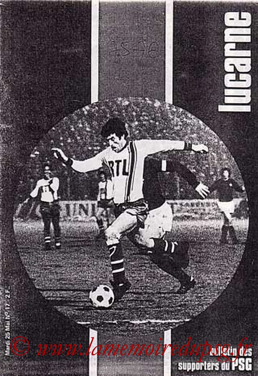 1976-05-25  PSG-Strasbourg (35ème D1, Lucarne N°17)