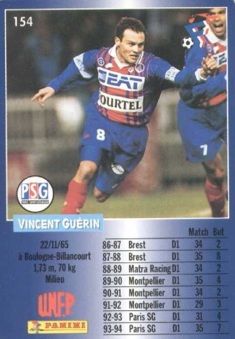 N° 154 - Vincent GUERIN (Verso)