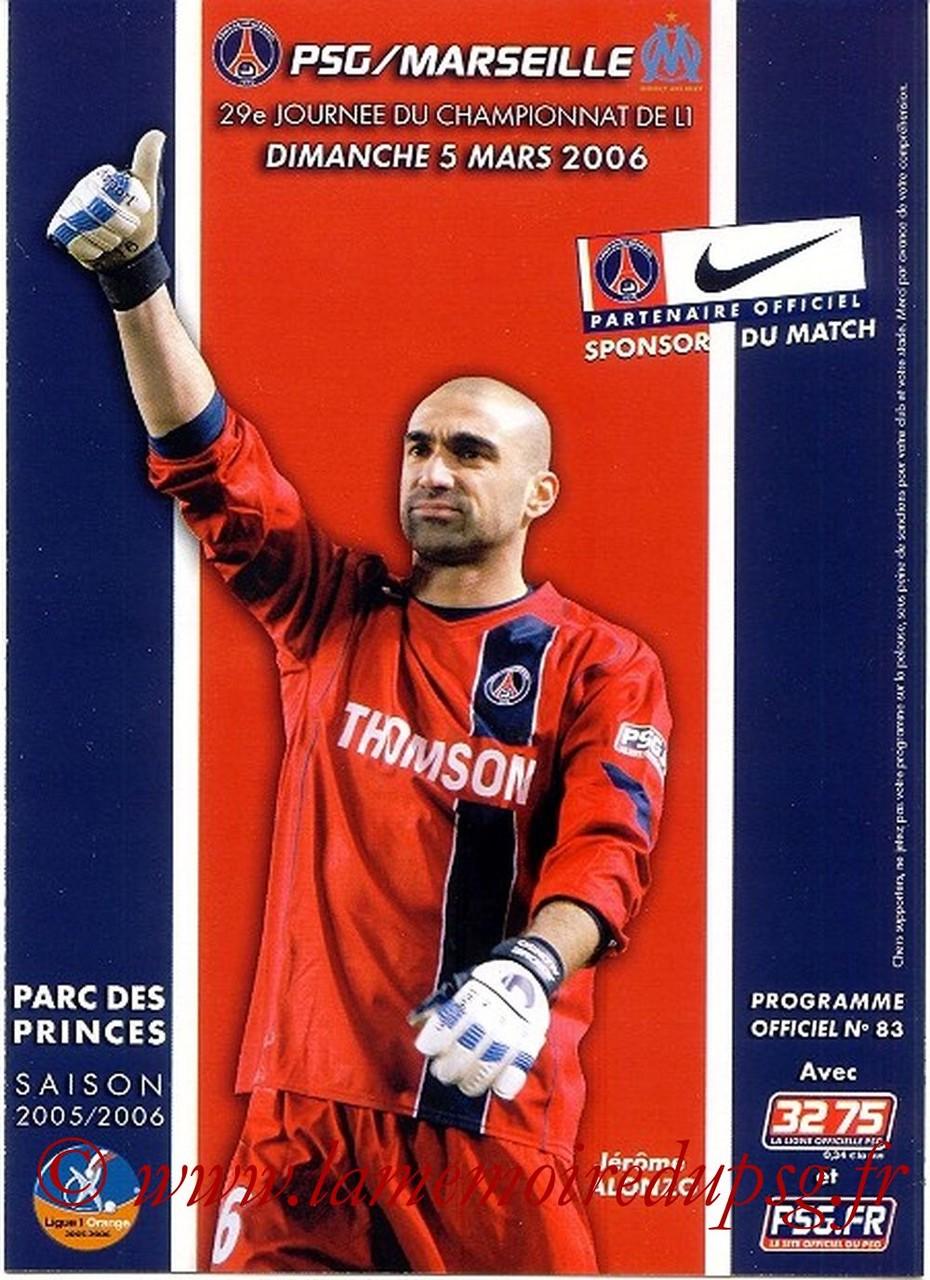 2006-03-05  PSG-Marseille  (29ème L1, Officiel N°83)