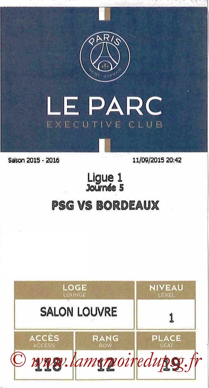 2015-09-11  PSG-Bordeaux (5ème L1 E-Ticket executive club)