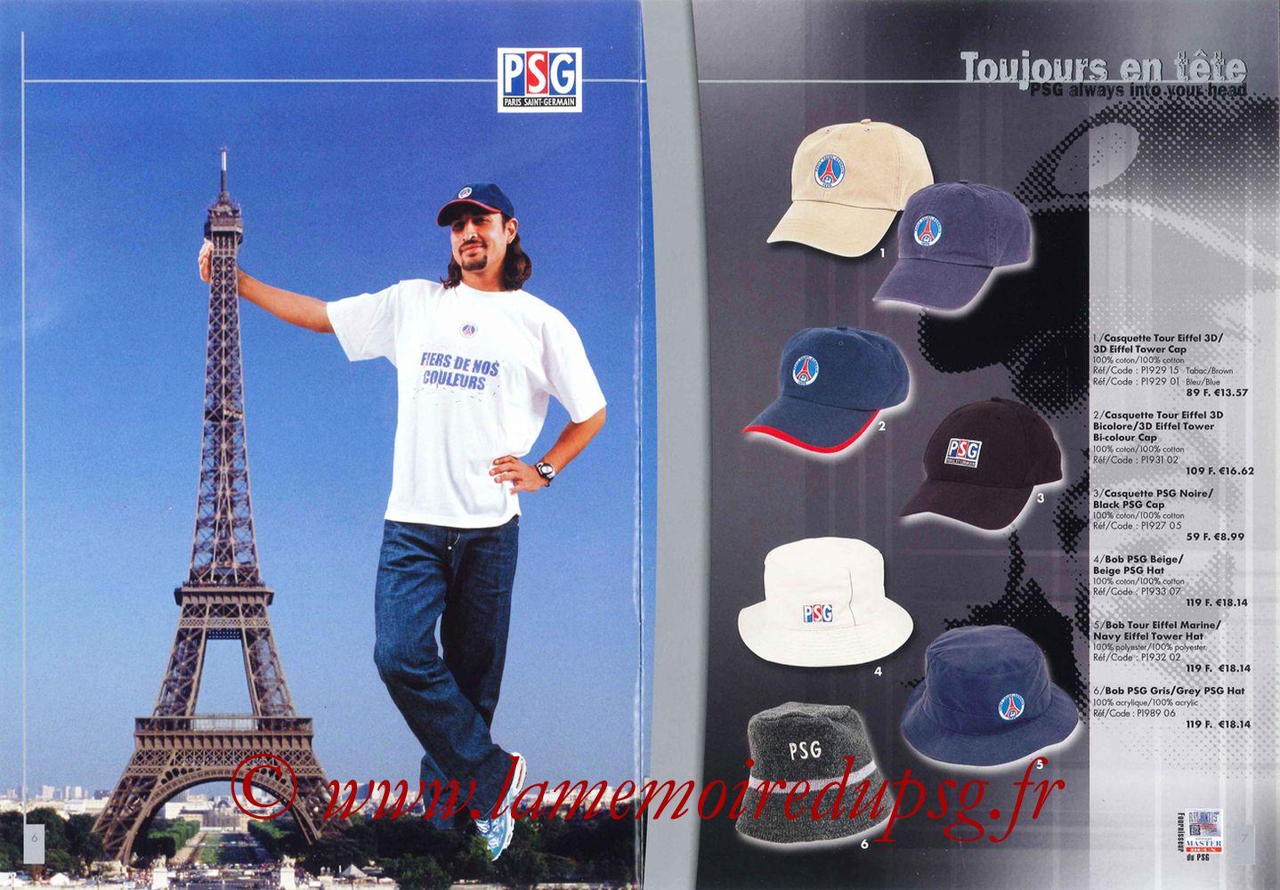 Catalogue PSG - 2000-01 - Pages 06 et 07