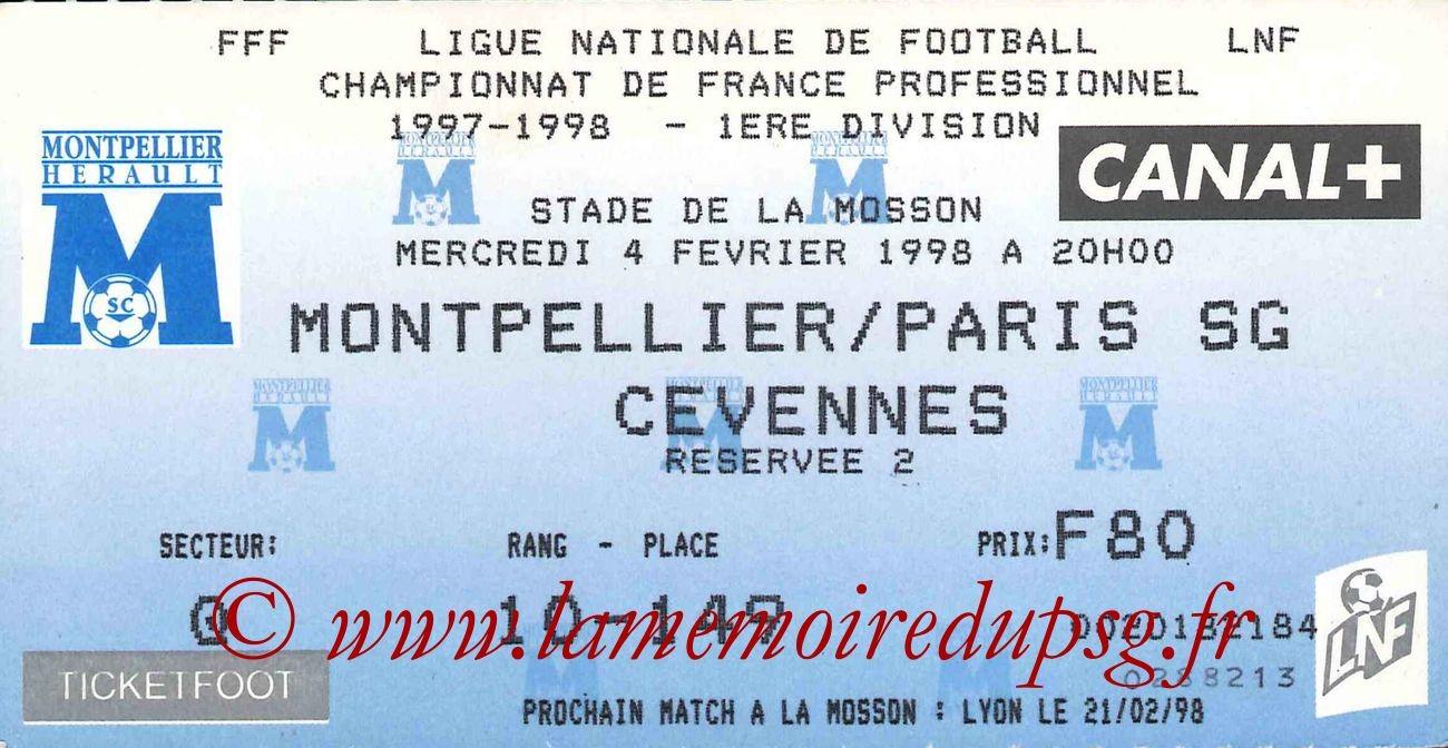 1998-02-04  Montpellier-PSG (25ème D1)