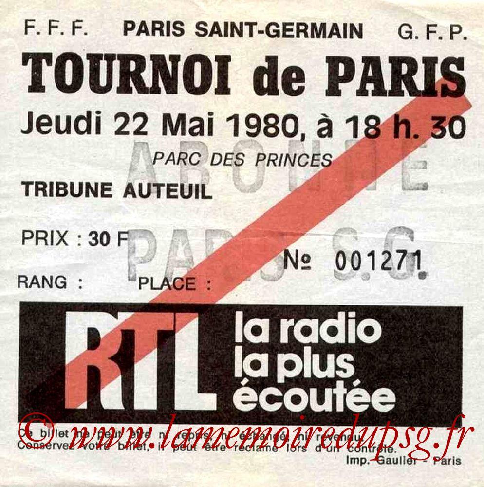 1980-05-22  PSG-Standard de Liège (Finale Tournoi de Paris)