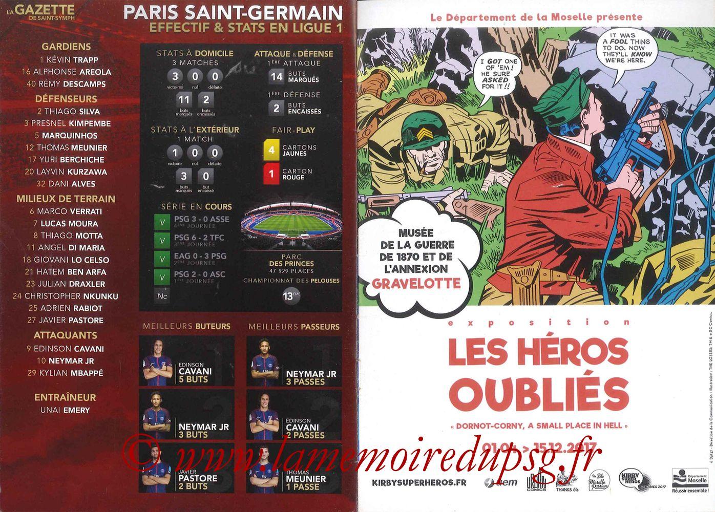 2017-09-08  Metz-PSG ((5ème L1, La Gazette de Saint-Symph) - Pages 12 et 13