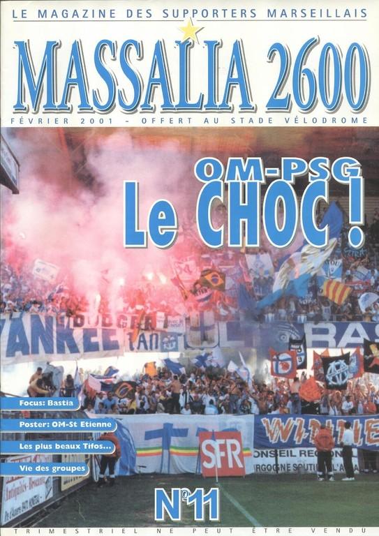 2001-02-17  Marseille-PSG (27ème D1, Massalia N°11)