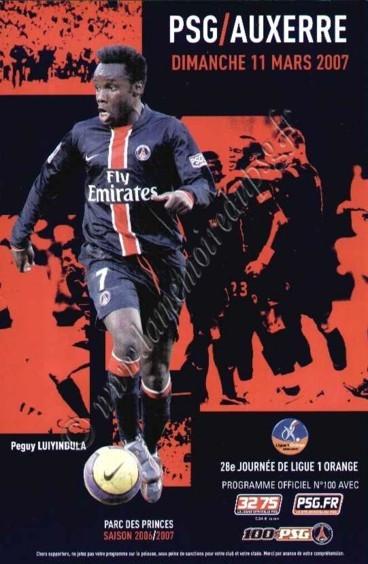 2007-03-11  PSG-Auxerre (28ème L1, Officiel N°100)