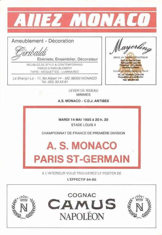 1985-05-14  Monaco-PSG (36ème D1, Allez Monaco)