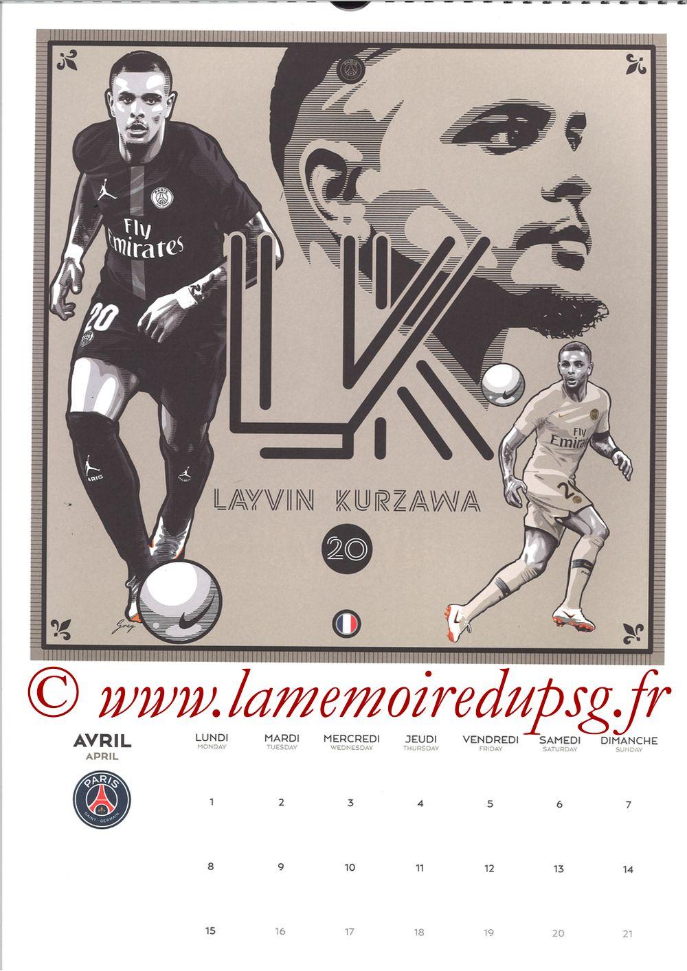 Calendrier PSG 2019 - Page 07 - Layvin KURZAWA
