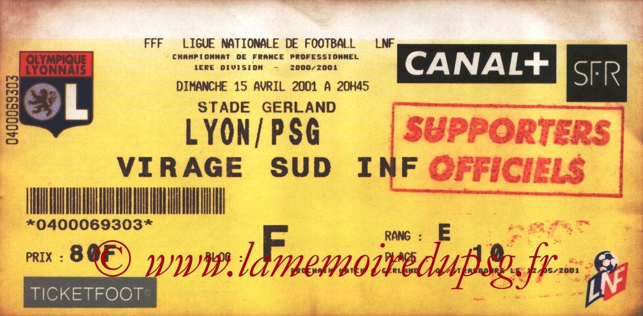 2001-04-15  Lyon-PSG (31ème D1)