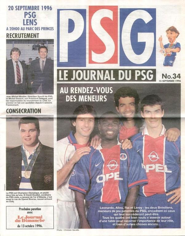 1996-09-20  PSG-Lens (8ème D1, Le Journal du PSG N°34)