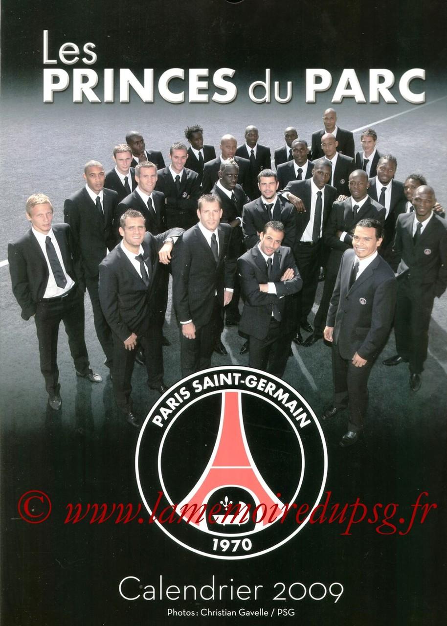 Calendrier PSG 2009 - Couverture
