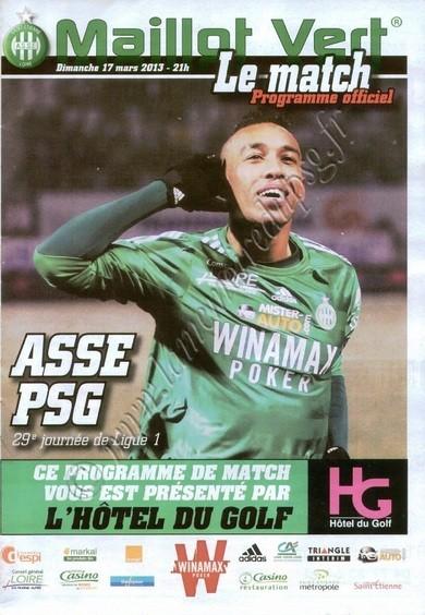 2013-03-17  Saint Etienne-PSG (29ème L1, Maillot Vert Le match)