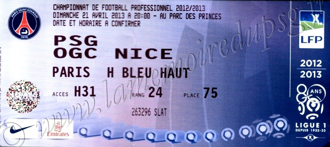 2013-04-21  PSG-Nice (33ème L1)