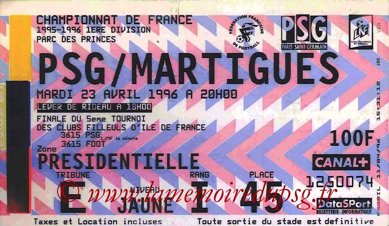 1996-04-23  PSG-Martigues (35ème D1)