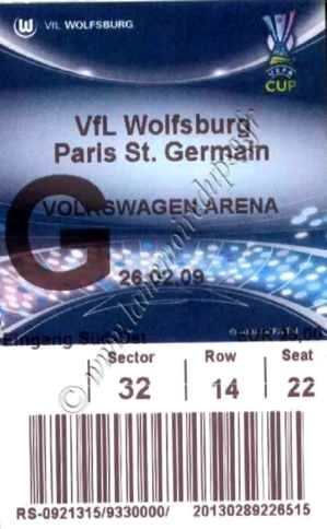 2009-02-26  Wolfsburg-PSG (16ème Retour C3)