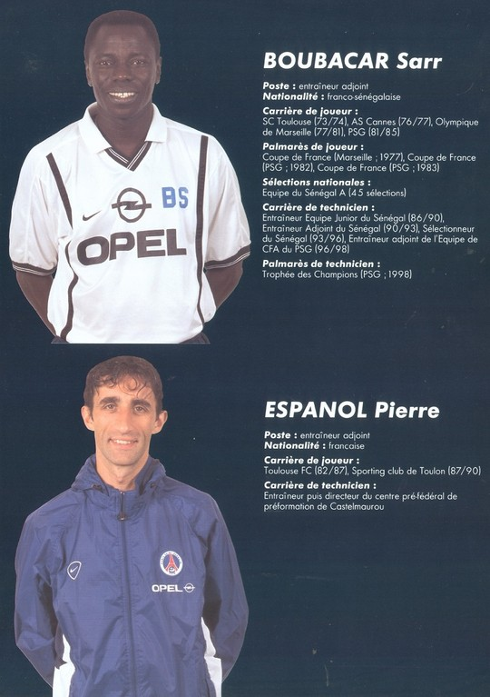 2000-01 - BOUBACAR Sarr et ESPANOL Pierre