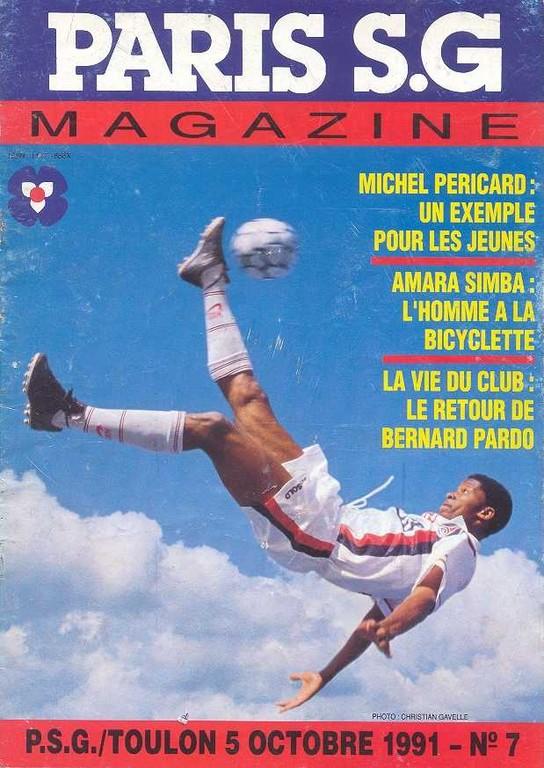1991-10-05  PSG-Toulon (13ème D1, Paris SG Magazine N°7)