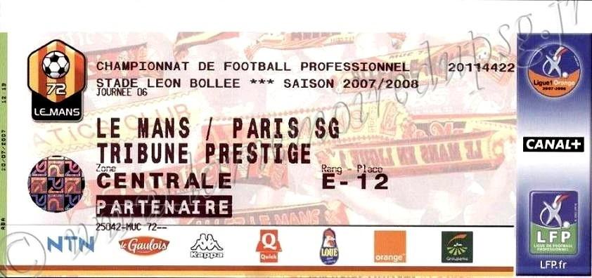 2007-08-29  Le Mans-PSG (6ème L1)