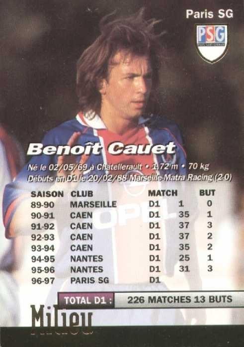 N° 176 - Benoit CAUET(Verso)