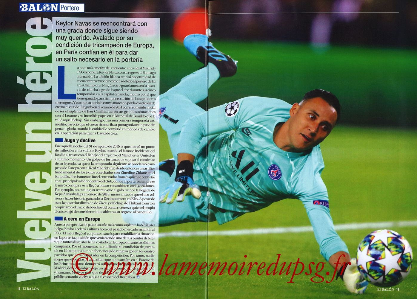 2019-11-26  Real Madrid-PSG (5ème C1, El Balon in the Game N°74) - Pages 18 et 19