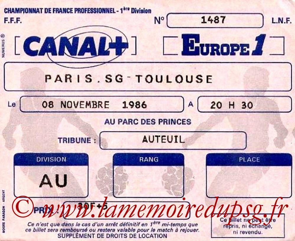 1986-11-08  PSG-Toulouse (16ème D1)bis
