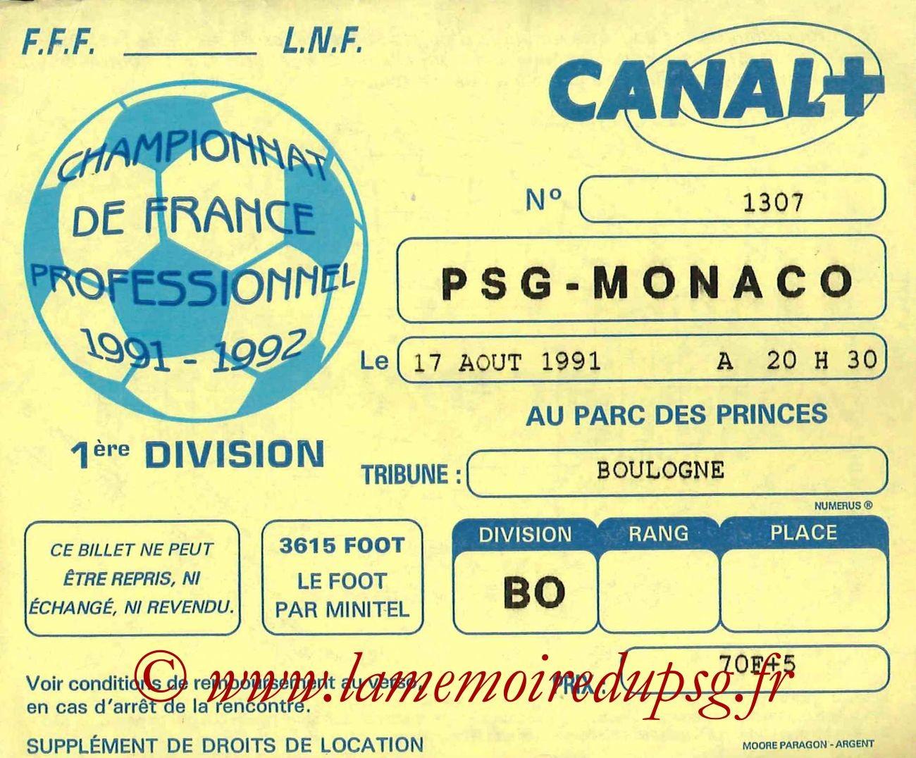 1991-08-17  PSG-Monaco (6ème D1, ter)