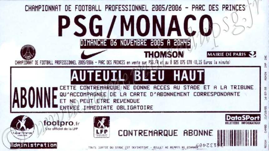 2005-11-06  PSG-Monaco (14ème L1)