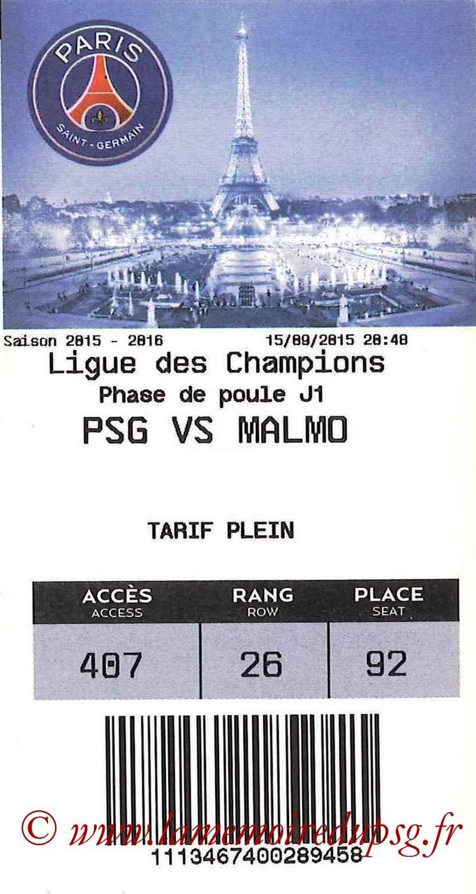 2015-09-15  PSG-Malmo (1ère C1, E-ticket bis)