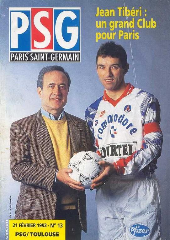 1993-02-20  PSG-Toulouse (26ème D1, Le Magazine PSG N°13)