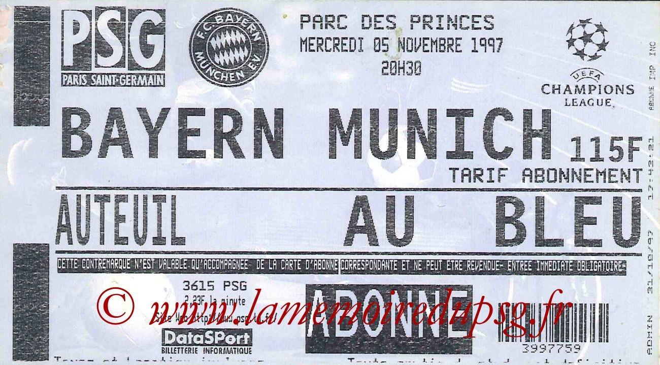 1997-11-05  PSG-Bayern Munich (4ème Journée Poule C1)