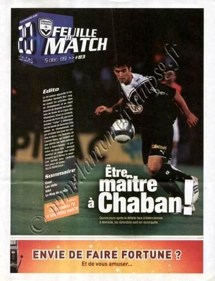 2009-12-05  Bordeaux-PSG (16ème L1, Feuille de match N°83)