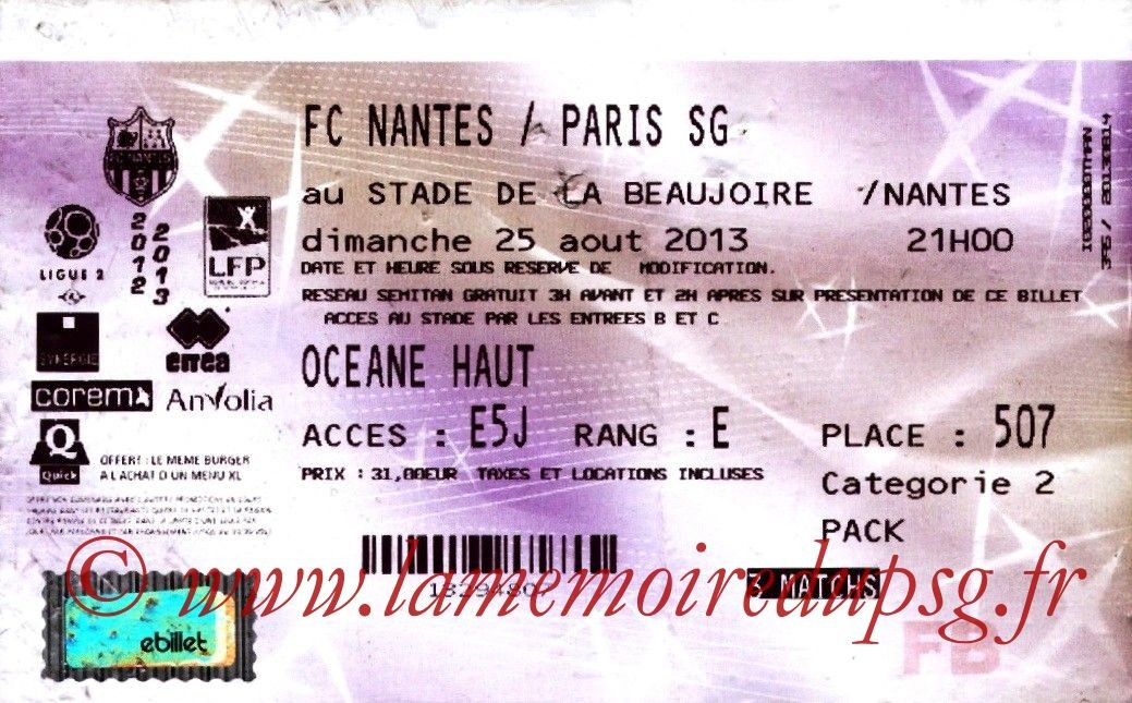 2013-08-25  Nantes-PSG (3ème L1, Francebillet)