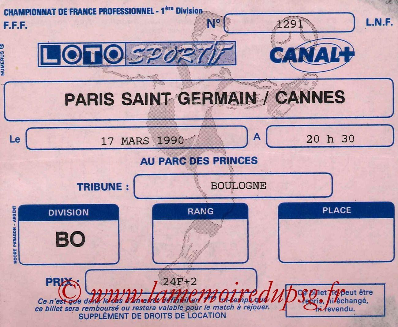 1990-03-17  PSG-Cannes (29ème D1)