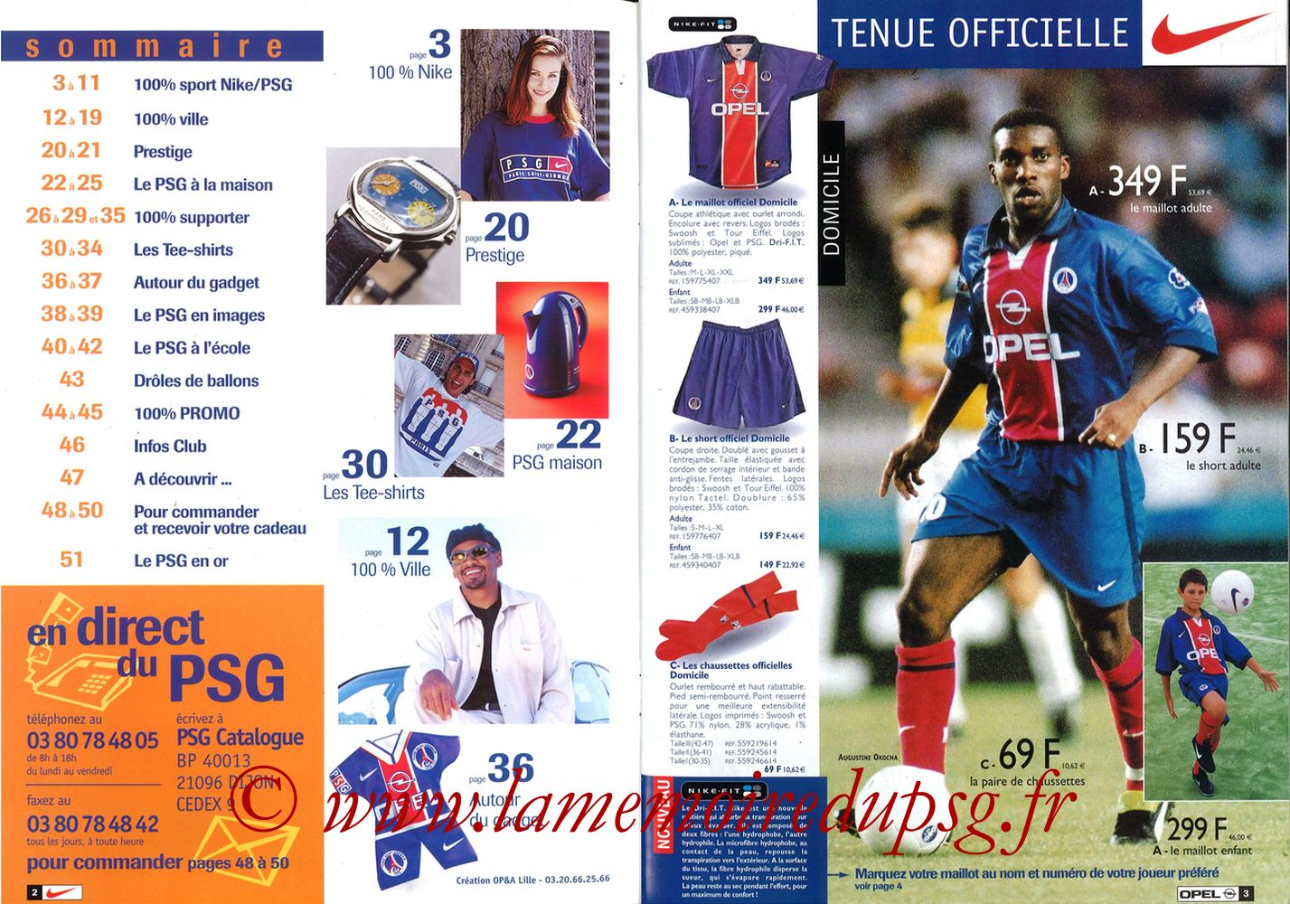 Catalogue PSG - 1998-99 - Pages 02 et 03
