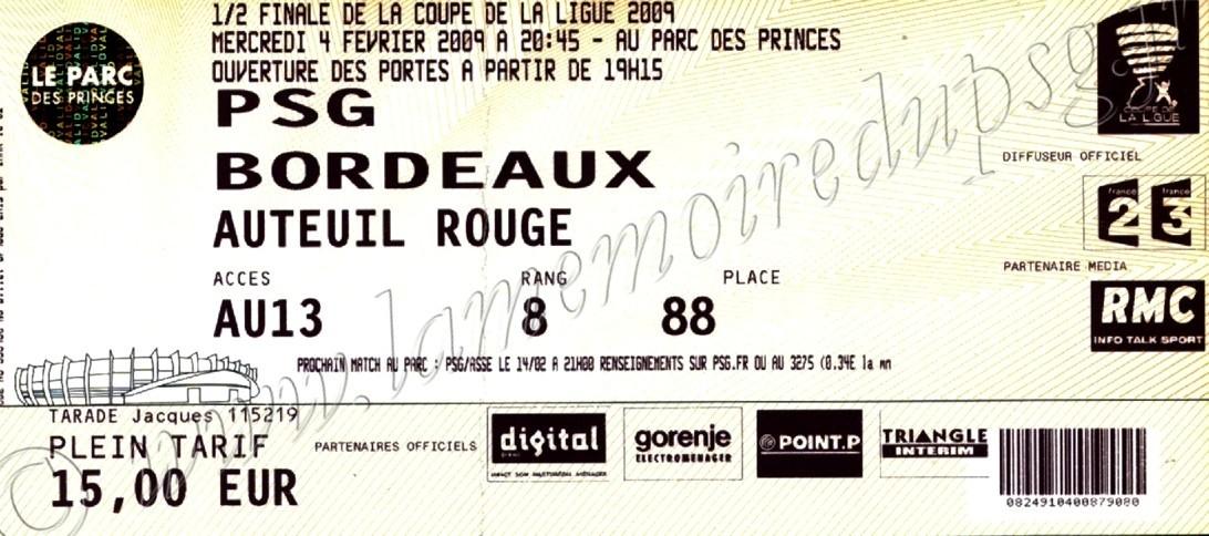 2009-02-04  PSG-Bordeaux (Demi-Finale CL, bis)