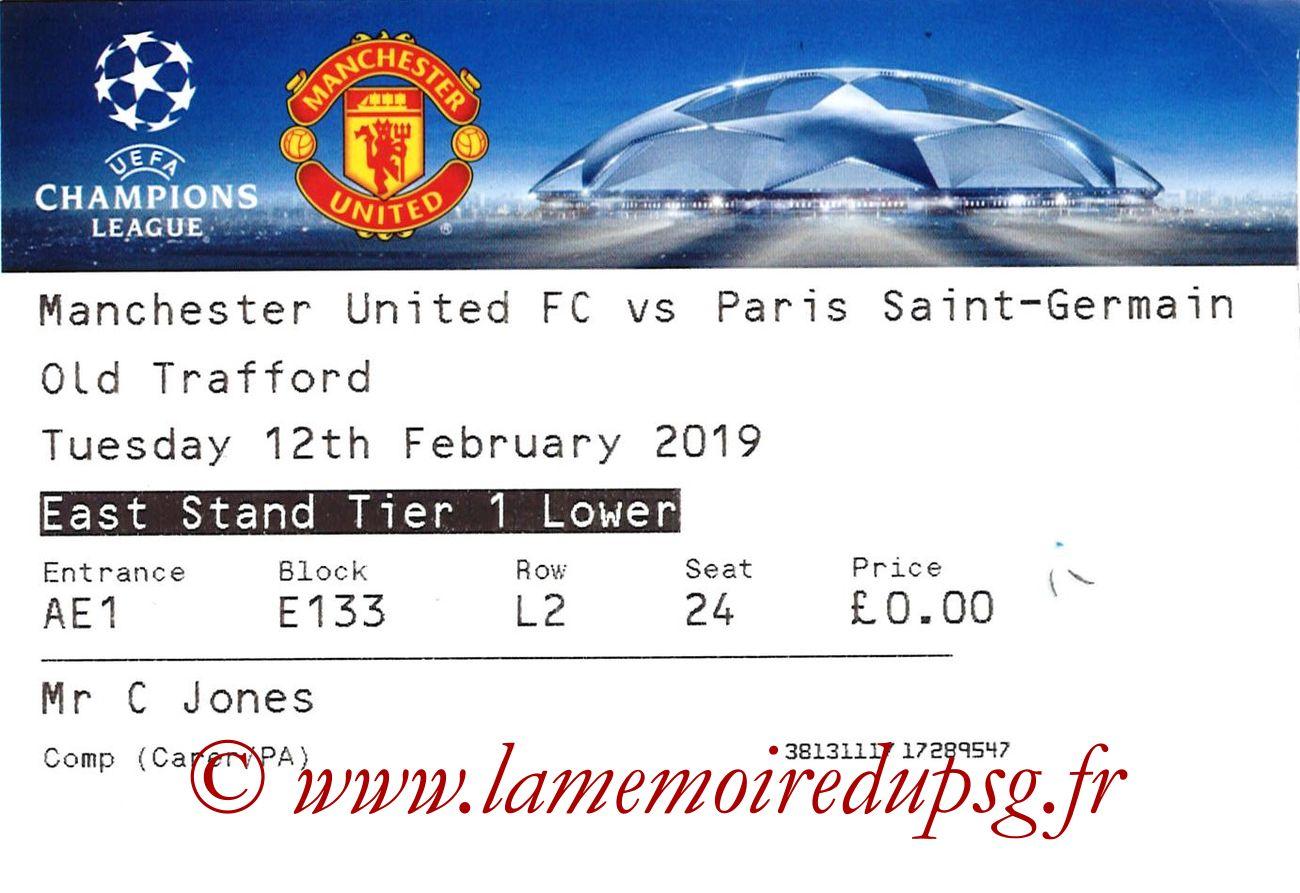 2019-02-12  Manchester United-PSG (8ème Finale C1)