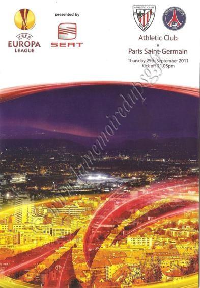 2011-09-29  Atheltic Bilbao-PSG (2ème poule C3, Programme officiel)