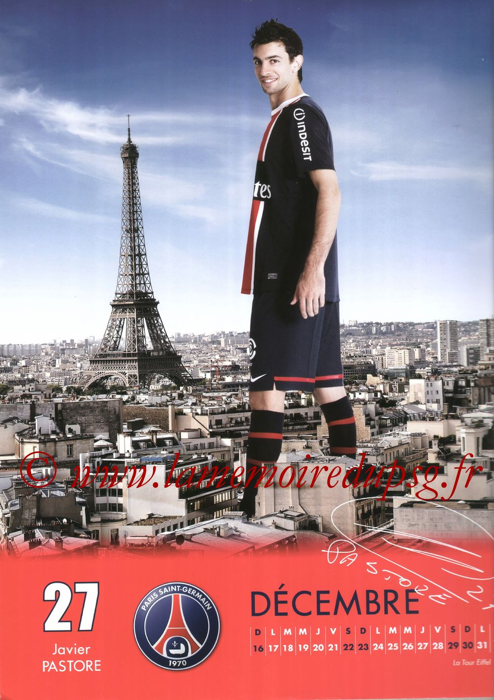 Calendrier PSG 2012 - Page 24 - Javier PASTORE